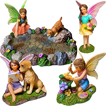 5 pcs miniature nain figurines accessoires pour d/écoration ext/érieure ou maison de jardin PING Fairy Garden
