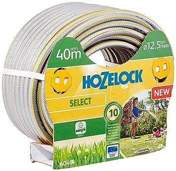 Hozelock 6040P0000 40m PVC Gris, Amarillo - Manguera de jardín (40 m, Gris