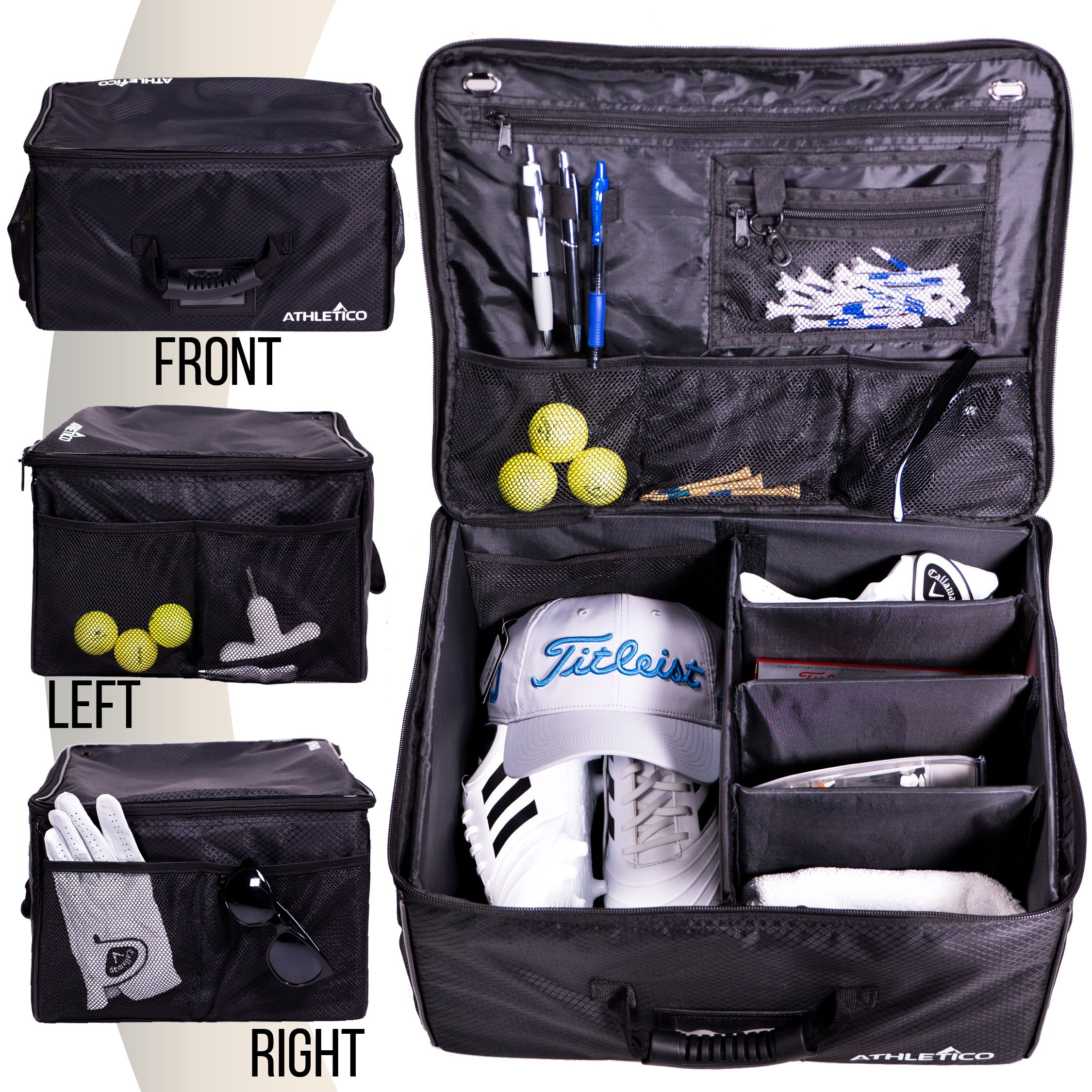 Athletico Golf Trunk Organizer Storage - Car Golf Locker to Store Golf Accessories | Collapsible When Not in Use by Athletico