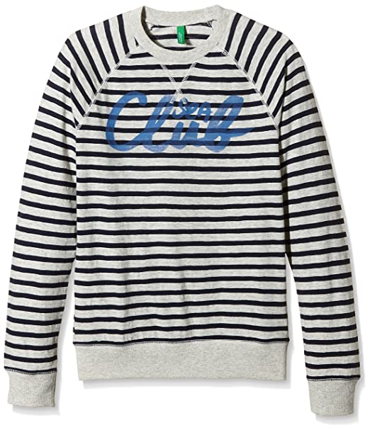 United Colors of Benetton 3PR0C11T6, Sudadera para Niñas, Gris (Grey/Navy) 10-11 Años: Amazon.es: Ropa y accesorios
