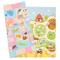 Baby Care Play Mat - Playful Collection (Busy Farm, Large) - Play Mat for Infants...