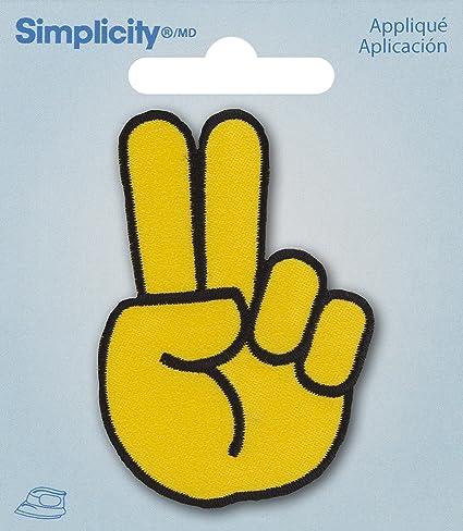 Amazon com: Simplicity Applique Iron On Peace Emoji: Office