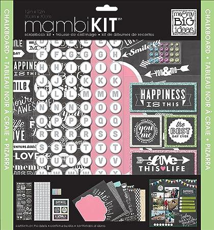 Amazon Me My Big Ideas Chalkboard Doodle Mambi Scrapbook Kit