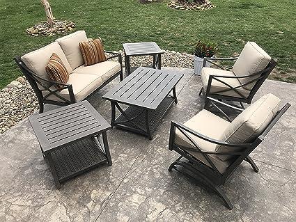Davenport Patio Furniture.Amazon Com Agio Davenport 6 Piece Patio Conversation Set Garden