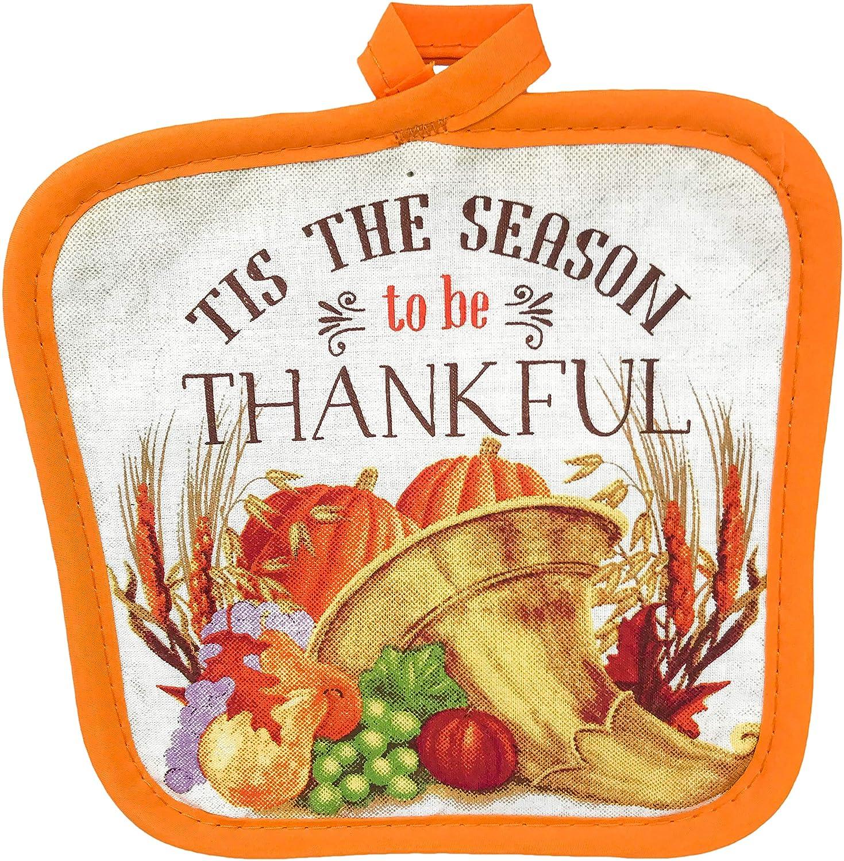 FLOMO Thanksgiving Holiday Thankful Give Thanks Kitchen Oven Mitt ...