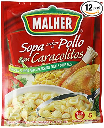 Malher Chicken and Shells Soup, 2.1 Ounce (Pack of 12)