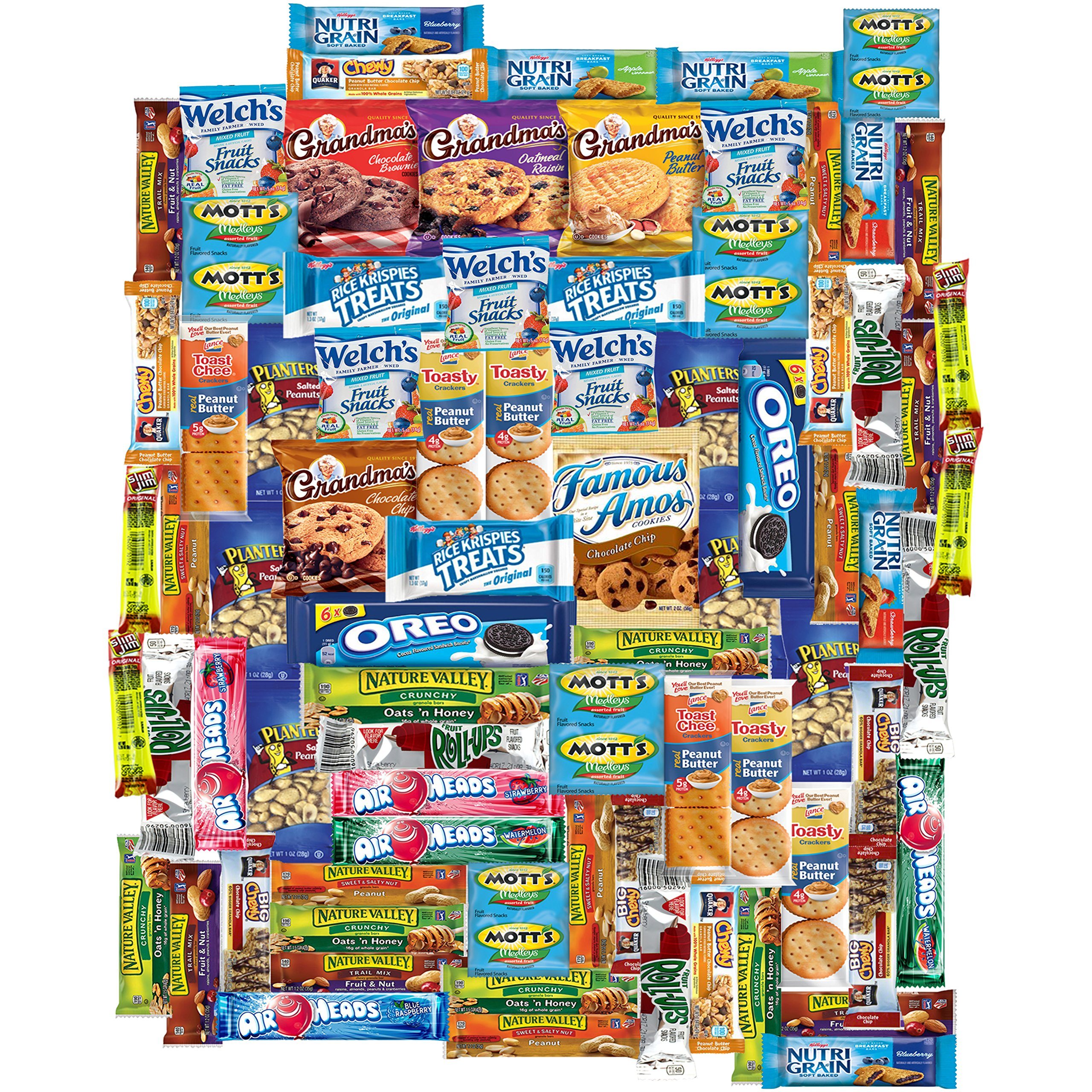 Snacks Gift Care Package (100 Count) College Students, Work/ Office, Home or Military Over 9 Pounds of Cookies Chips & Candy by Snacks Generation (Image #2)