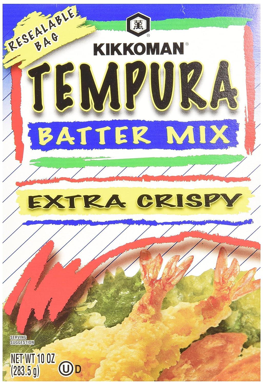 Amazon Com Kikkoman Tempura Batter Mix 10 Ounce Pack Of 6 Tempura Coatings Grocery Gourmet Food