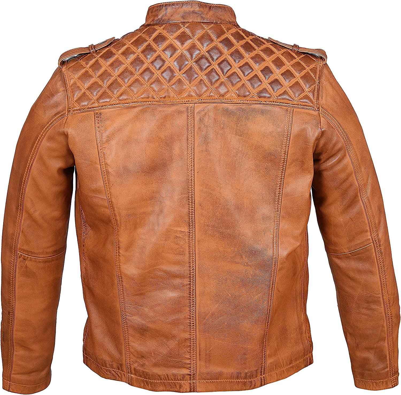 TheLeaterHunt Premium Genuine Mens Leather Jacket