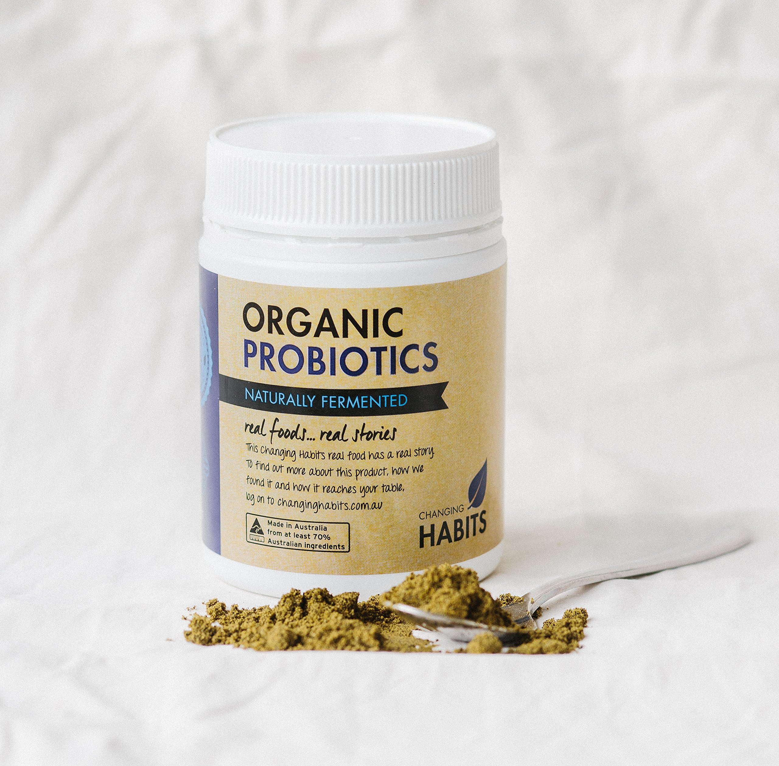 Organic Probiotic Powder With Prebiotic Fiber. 60+ Servings! Soothing, Great Tasting Wholefood Vegan Probiotics and Prebiotics For Women, Men and Kids by Changing Habits (Image #4)