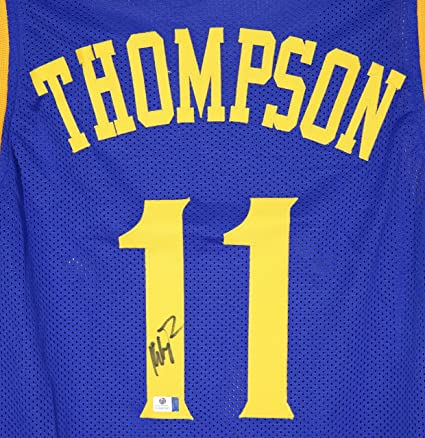 Klay Thompson Golden State Warriors Signed Autographed Blue  11 Custom  Jersey COA b30254ee1