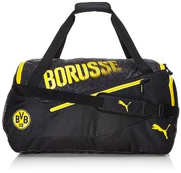 2059ffd21bfc4 PUMA BVB Evospeed M Bag Sporttasche Black-Cyber Yellow