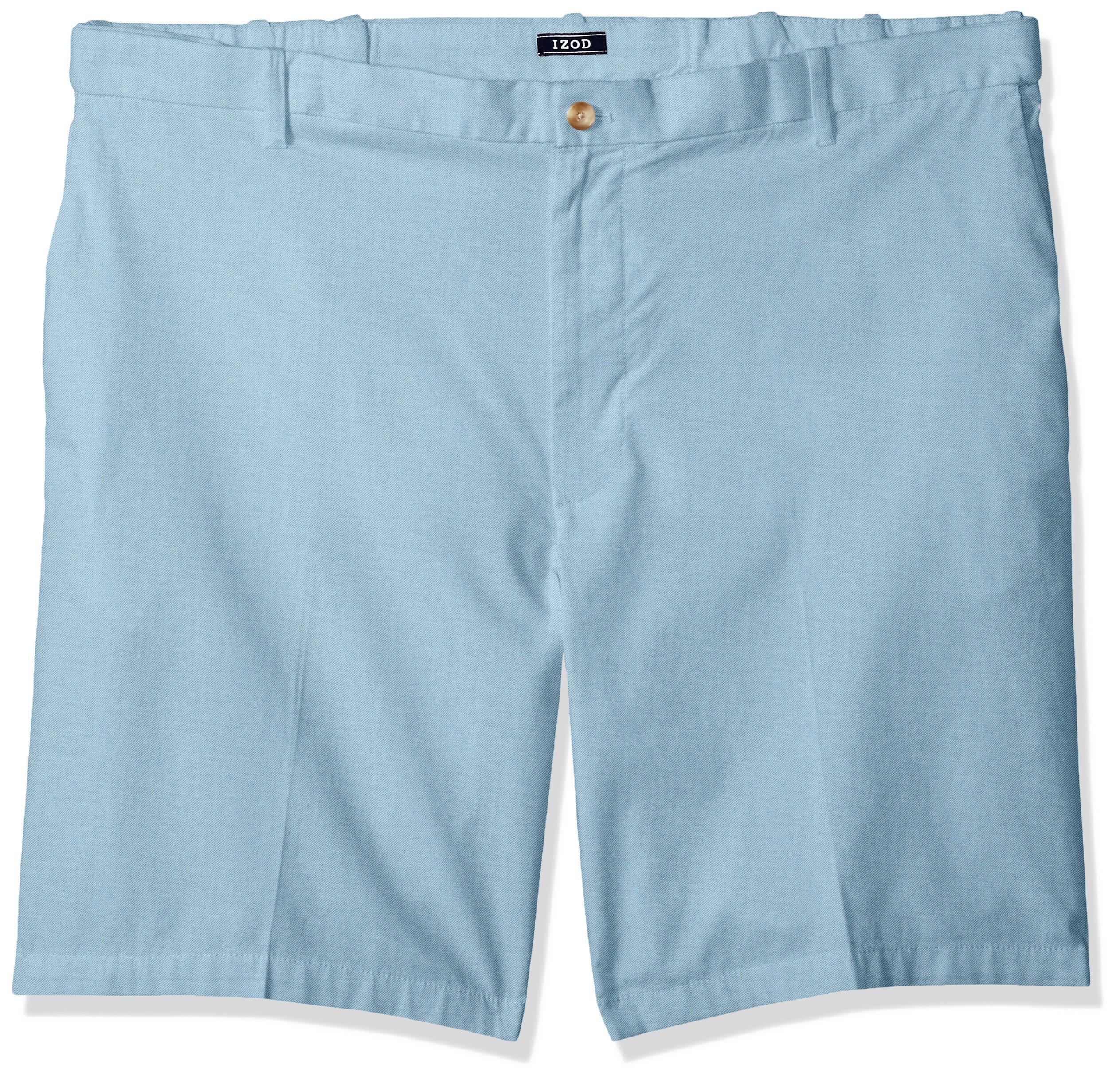 """Izod Saltwater Big /& Tall Flat Front Shorts Light Blue Size 44x10.5/"""""""