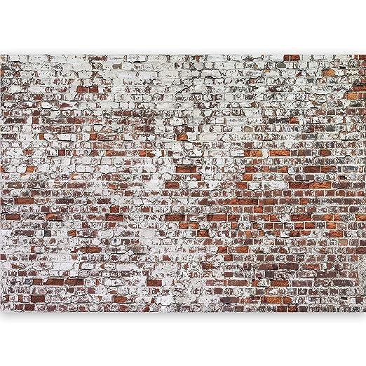 murando - Vlies Fototapete 500x280 cm - Vlies Tapete - Moderne Wanddeko - Design Tapete - Ziegel Mauer mehrfarbig Ziegelstein