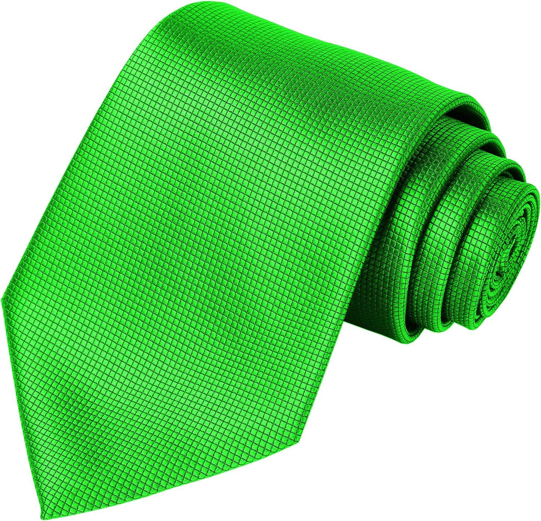 KissTies Solid Tie Pure Color Neckties for Men