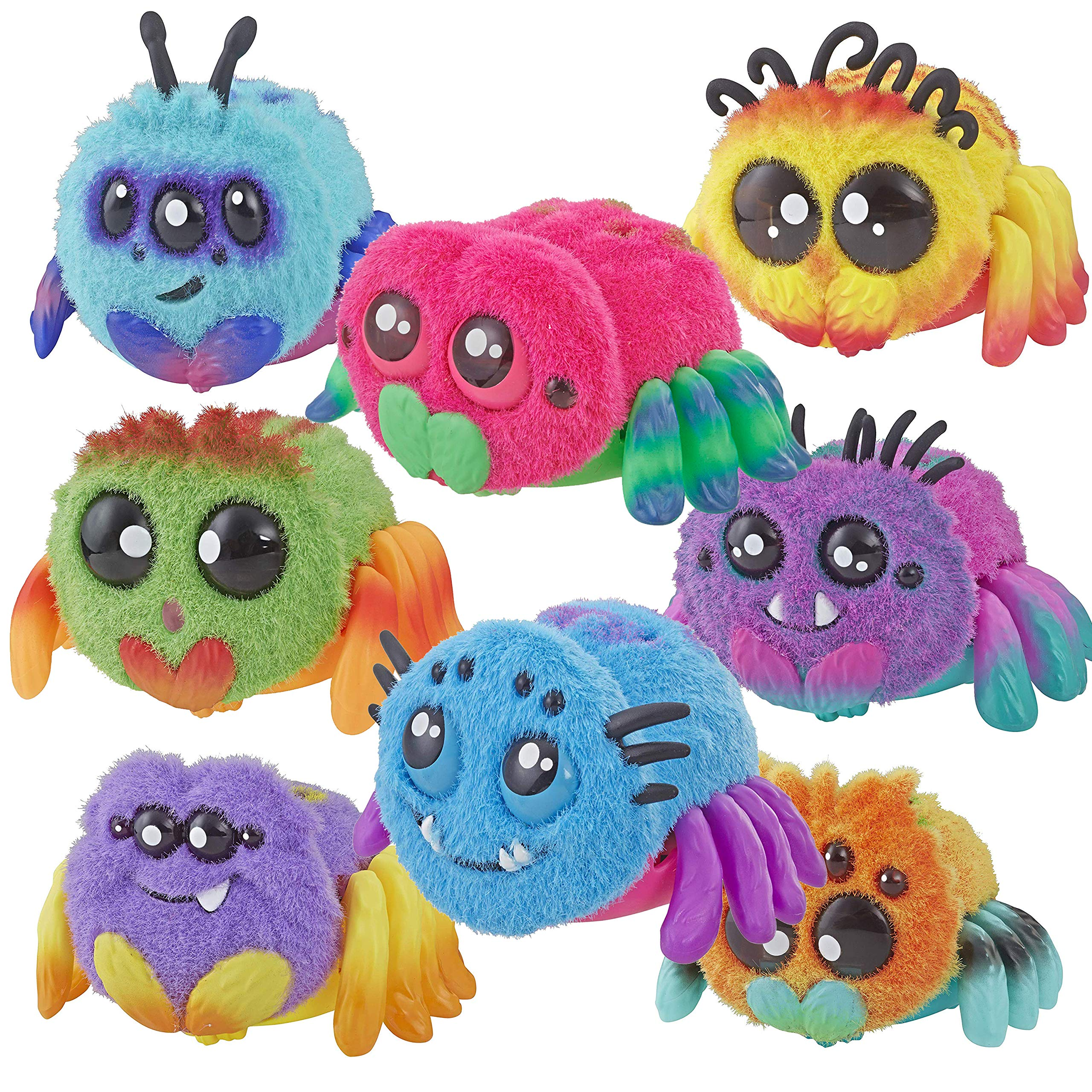 Spider Skadoodle, Sammie, FlufferPuff; Harry Scoots, Klutzers, Toofy Spooder, Bo Dangles and Peeks Voice-Activated Pet; Ages 5 and up - Set of 8 by Spider (Image #1)