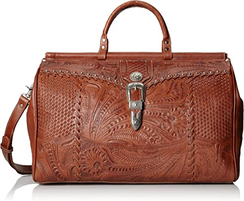 American West Retro Romance Duffel Bag,Antique Brown,One Size