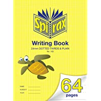 Spirax 163 335MM x 240MM Writing Book with 24MM Dotted Thirds & Plain (64 Pages)
