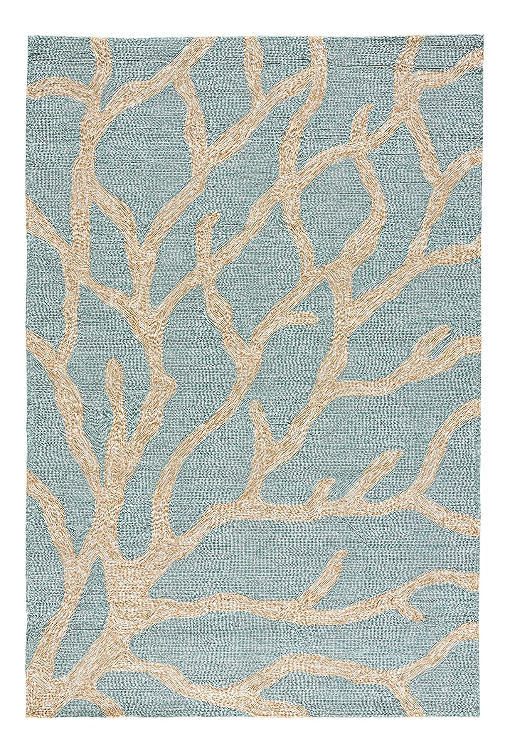 Amazon Com Jaipur Living Coral Indoor Outdoor Novelty Blue