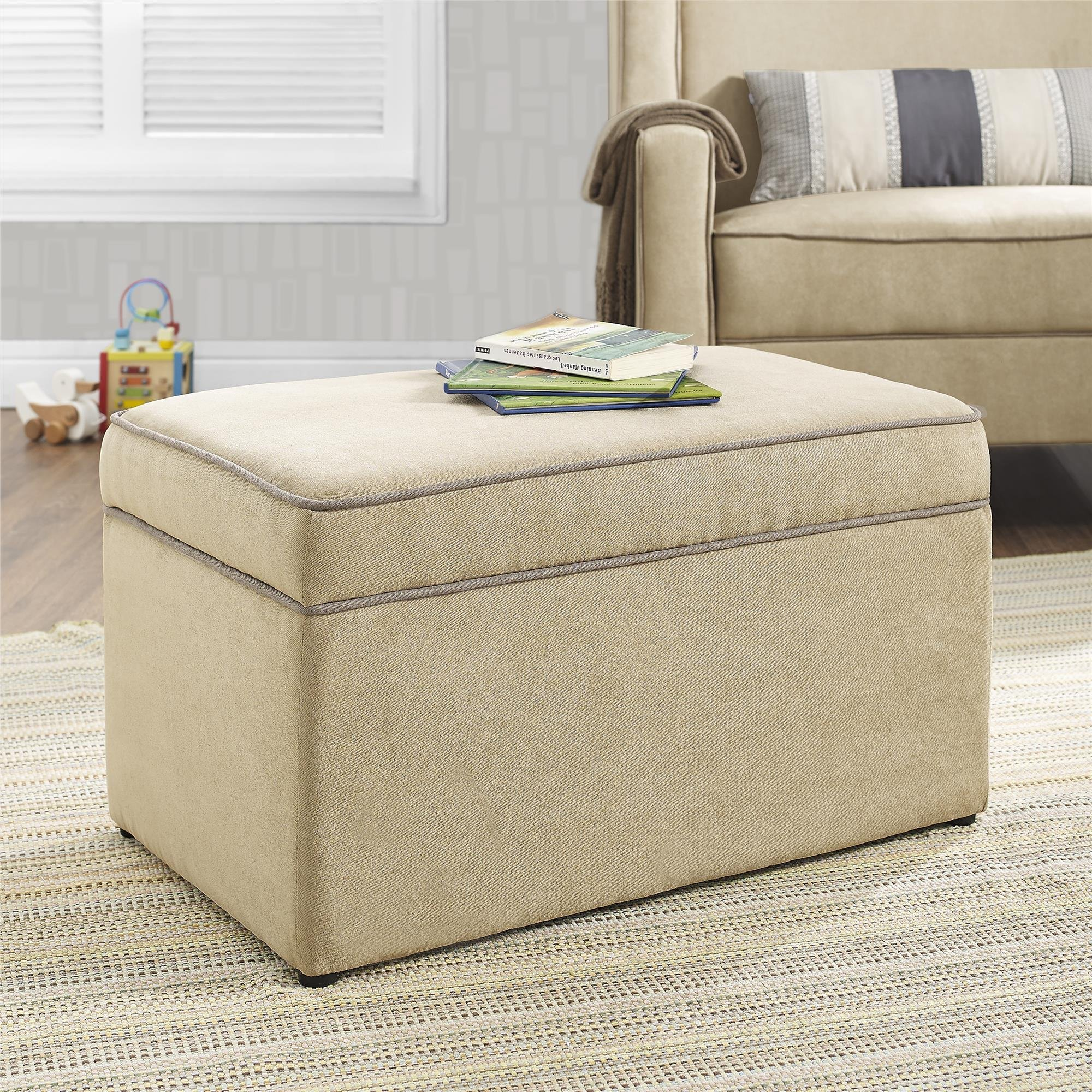 Baby Relax The Hadley Nursery Storage Ottoman for Baby Gliders, Beige