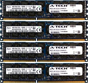 A-Tech Hynix 64GB Kit 4X 16GB PC3-12800 1.35V for Dell Precision Workstation T5600 20D6F T7500 SNPJDF1MC/16G T7600 A6996807 T5500 A2626071 A2626092 A3721494 A3721500 A3721505 Memory RAM