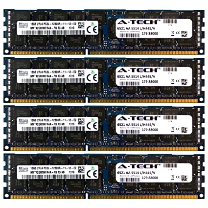 Dell PowerEdge Memory For T410 T610 R610 R710 R715 R810 R720xd 64GB 4 x 16GB