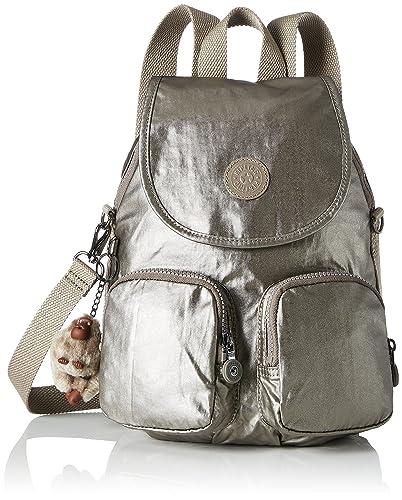 Kipling Firefly Up Medium Backpack Metallic Pewter