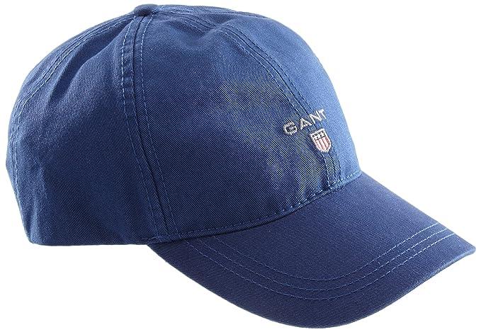a8366bf6 Gant Men's Baseball Cap TWILL CAP, Plain - Blue - One size