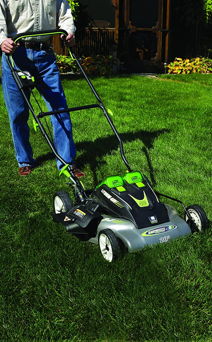 Earthwise 60420 20-Inch 40-Volt Lithium Ion Cordless Electric Lawn Mower