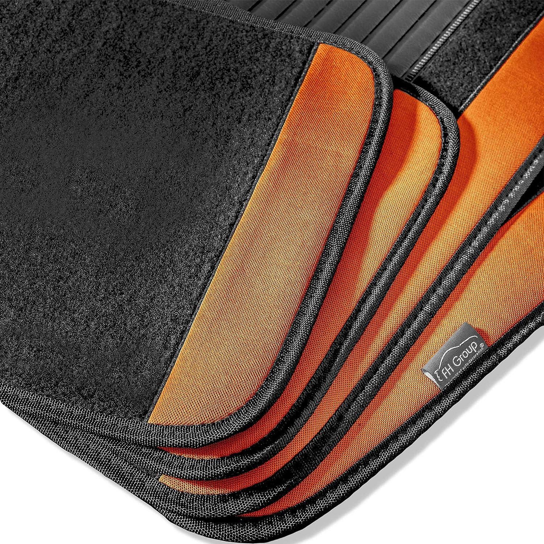 Sedan and SUV with Driver Heel Pad Yellow FH Group F14407YELLOW Premium Full Set Carpet Floor Mat