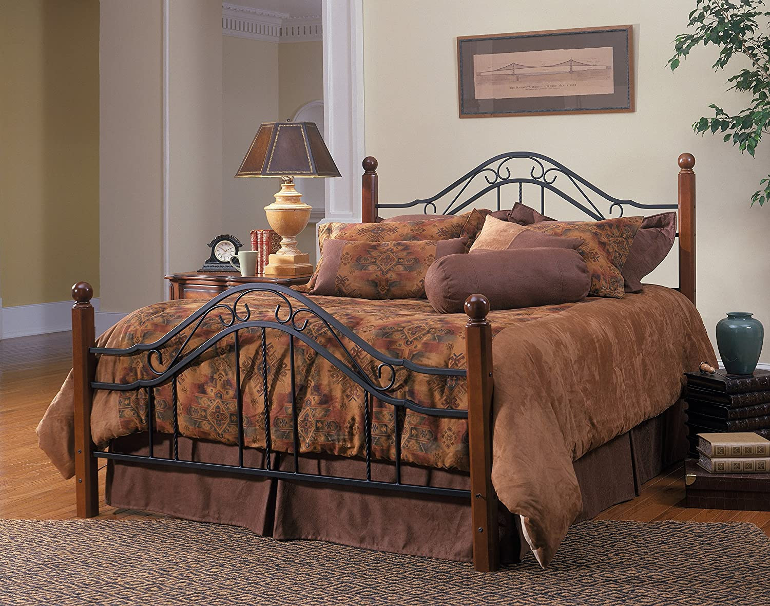 Amazon.com: Hillsdale Furniture 1010BK Madison Bed Set, King ...