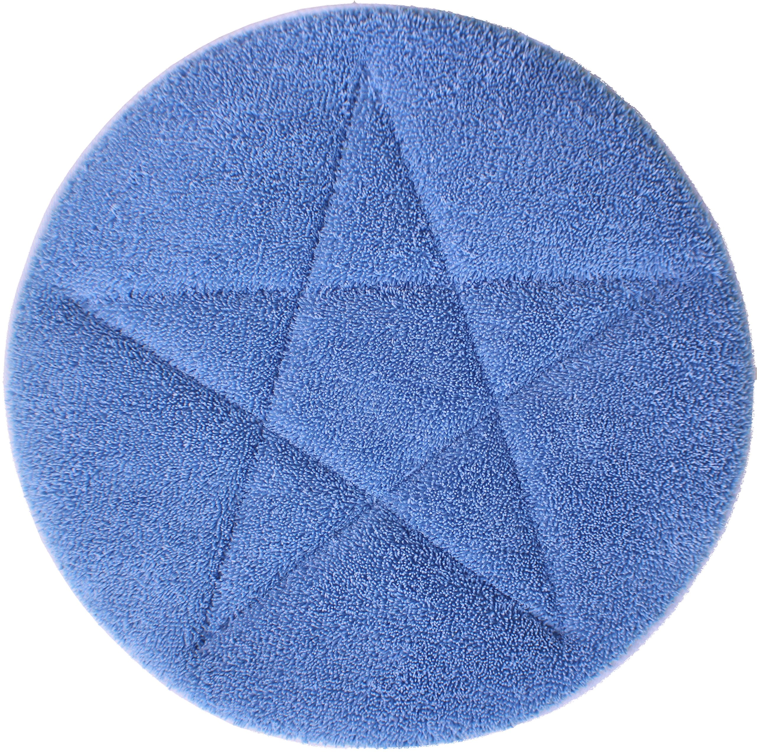 All-Star Microfiber Carpet Bonnets | 17'' Blue - 6 Pack by Direct Mop Sales