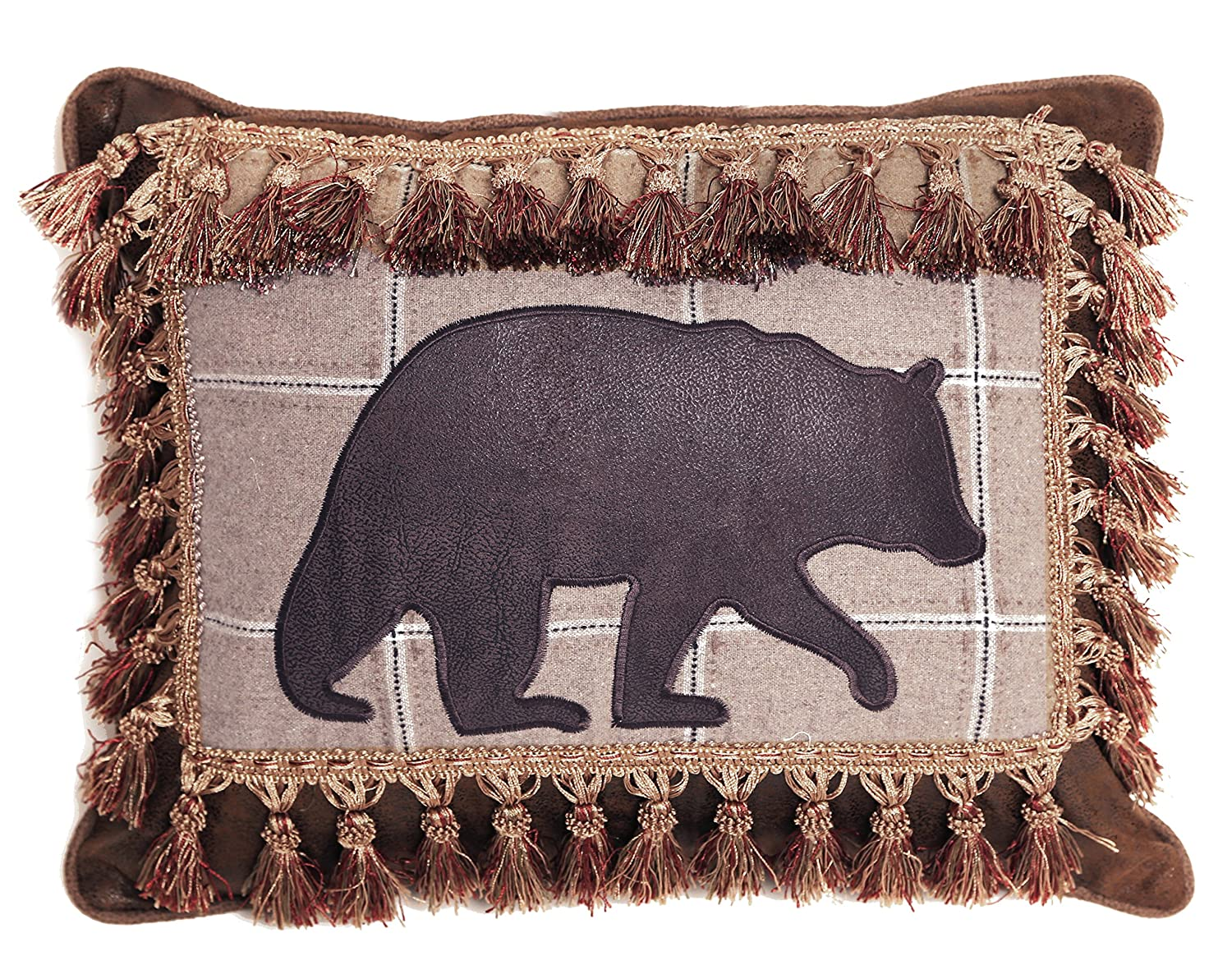 Carstens Bear with Tassel Fringe Pillow