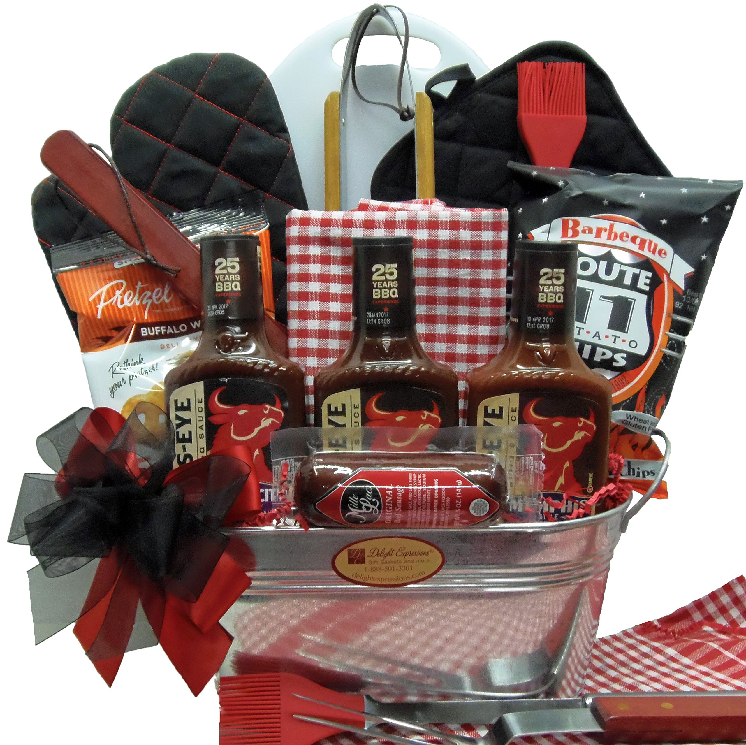 Delight Expressions Fire it Up BBQ Gift Basket - A Birthday or Get Well Gift Idea