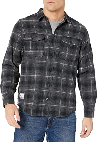 LRG Mens Lifted Research Group Long Sleeve Flannel Button Down Shirt