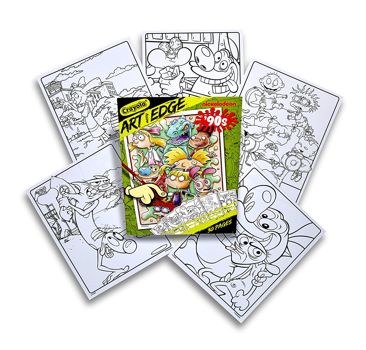 Amazon.com: Crayola Art with Edge Coloring Pages Nickelodeon Toy ...