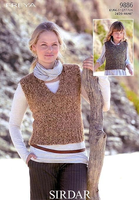Sirdar Ladiesgirls Freya Tank Tops Knitting Pattern 9886 Amazon