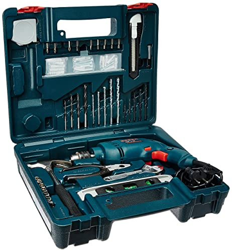 1. Bosch GSB 500W 10 RE Professional Tool Kit, MS and Plastic (Blue, Pack of 100)