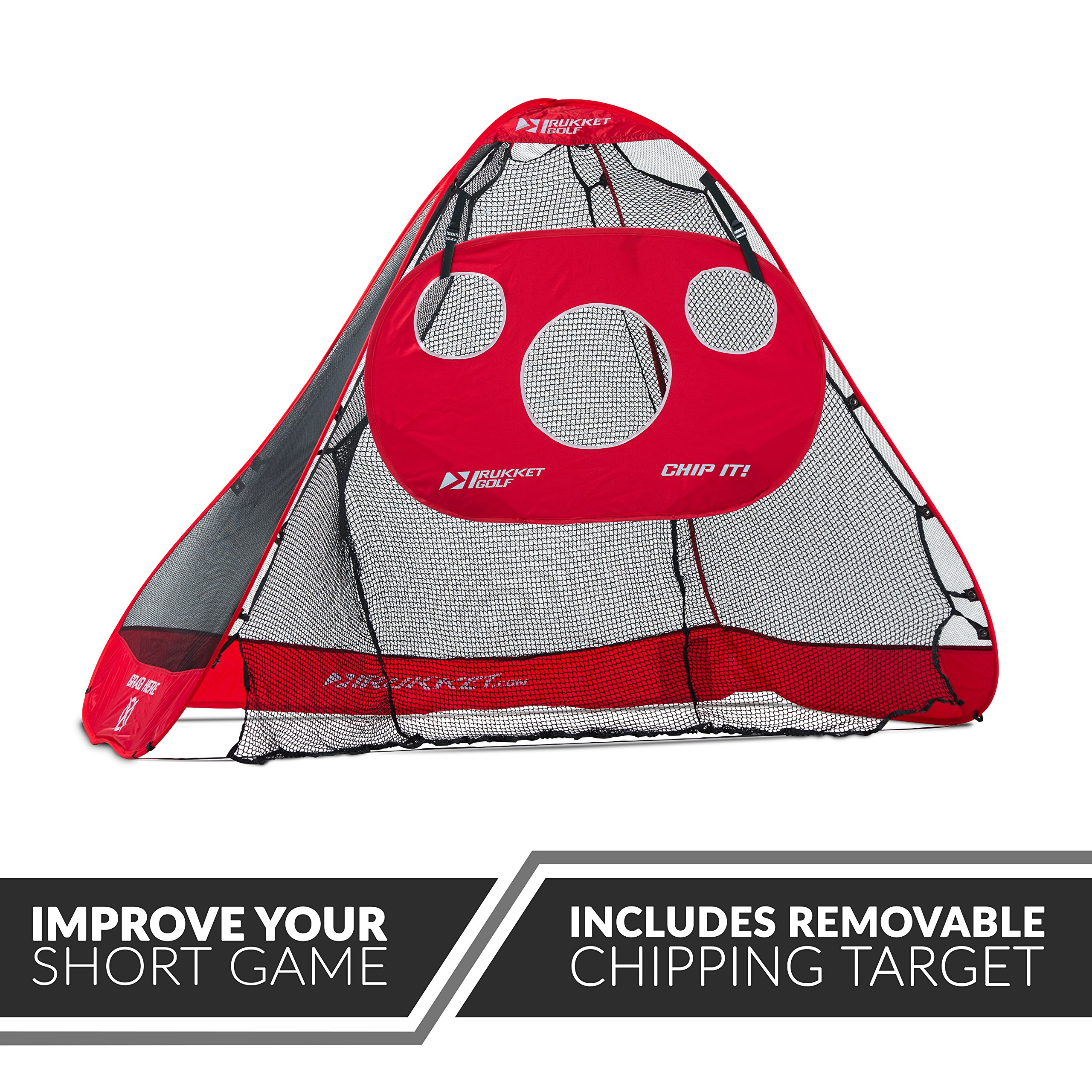 Rukket 4pc Golf Bundle | 10x7ft Portable Driving Net | Chipping Target | Tri-Turf Hitting Mat | Carry Bag | Practice Outdoor and Indoor by Rukket Sports (Image #4)