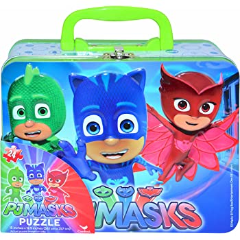 Disney Jr. PJ Masks Catboy, Gekko & Owlette Large Lunch Tin Box with 24pc