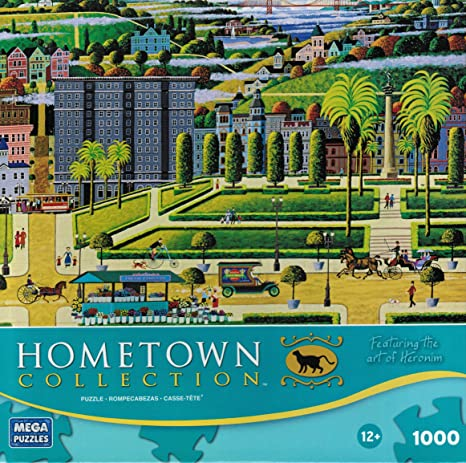 HOMETOWN COLLECTION Puzzle Featuring the Art of Heronim Union Square 1000 Piece Puzzle