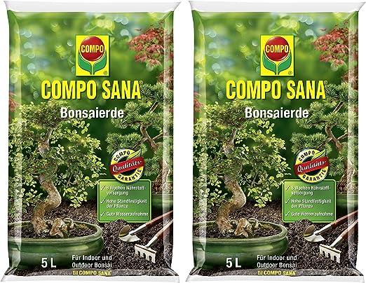 Compo Sana – Bonsai Tierra con 8 semanas abono para Todas Las Habitaciones de y Jardines. Bonsai, sustrato: Amazon.es: Jardín