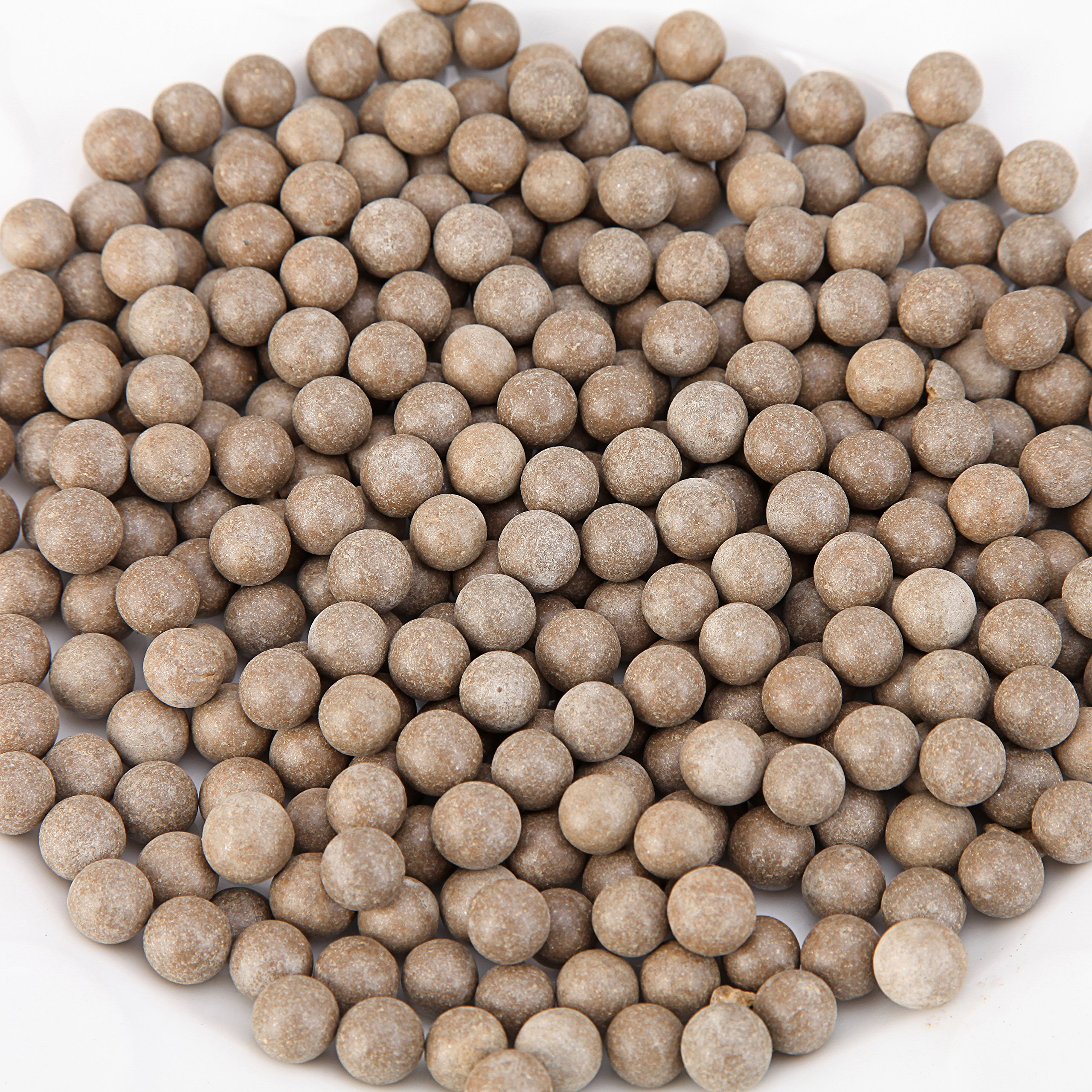 L Continue Pack 1500 Slingshot Ammo 3/8'' Biodegradable Hard Clay Ball - Soil Color.