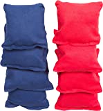 "Small Sized Bean Bags - 3.5"" x 3.5"" By Tailgate360 (Red and Blue)"