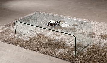 Tavolino da salotto cristallo curvato Coffee Cube spessore 12mm ...