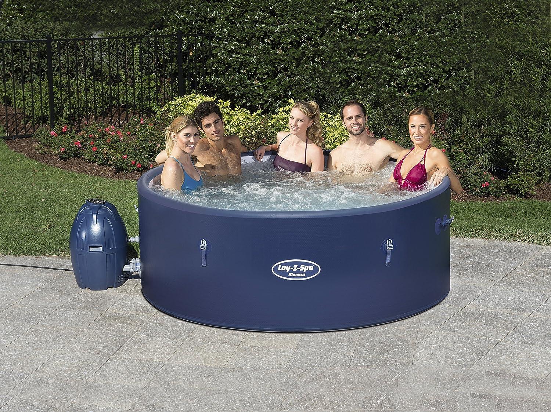 Amazon.com: Lay-Z-Spa Mónaco Portable rígido Hot Tub Spa ...