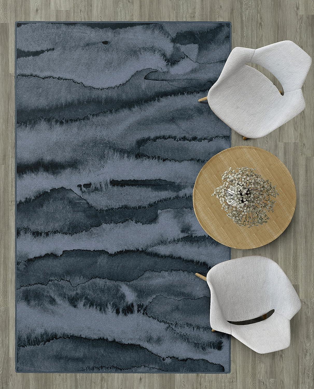 Brumlow Mills EW10098-30x46 Morning Fog Modern Abstract Blue Area Rug 26 x 310