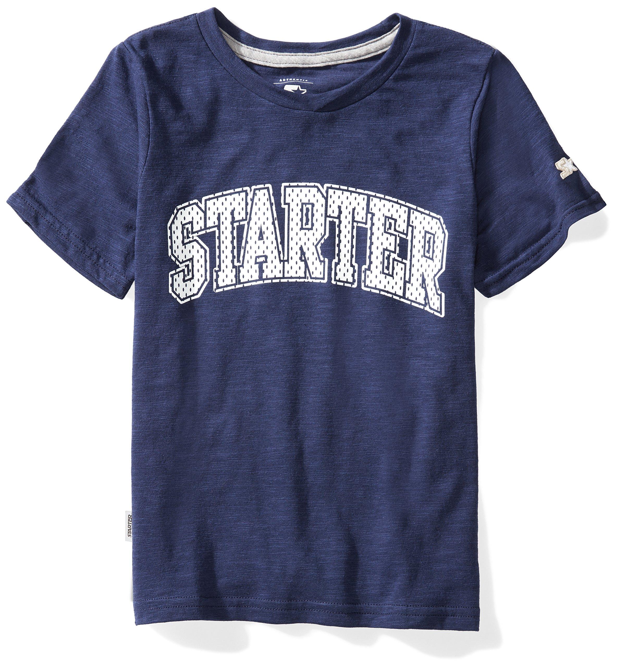 Starter Boys' Short Sleeve Mesh-Logo T-Shirt, Prime Exclusive, Team Navy, XS (4/5)