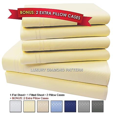 Microfiber Bed Sheet Set, 6 PIECE, SLEEP BETTER THAN EVER, Premium COOL  Ultra