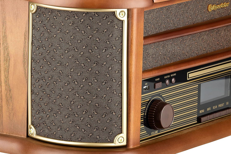 Roadstar HIF-1999D+BT Marrón tocadisco - Tocadiscos ...